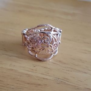 Rose gold colored ring